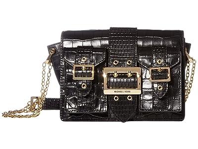 MICHAEL Michael Kors Hayden Medium Pocket Messenger (Black) Messenger Bags