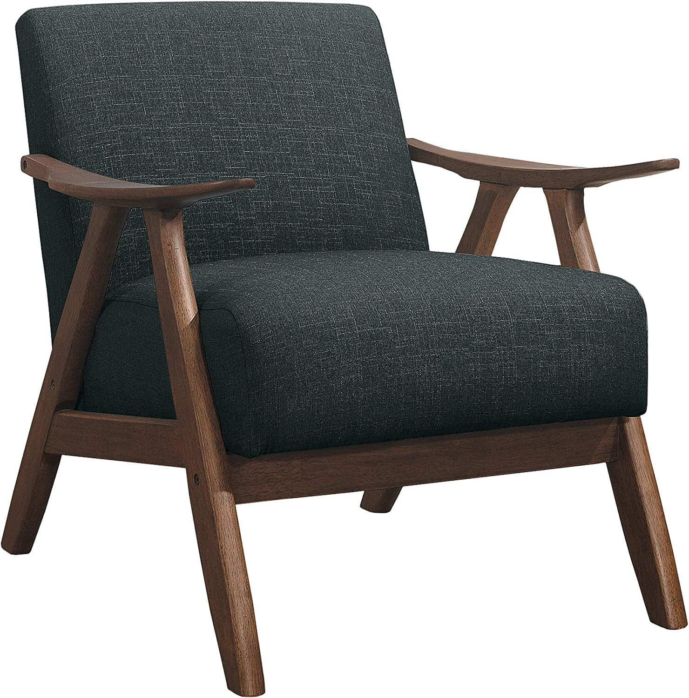 Lexicon Fabric Accent Chair Dark Gray Max 79% OFF Direct store