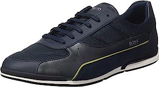 BOSS Herren Saturn Lowp Lowtop Sneakers aus verschiedenen Materialien Größe