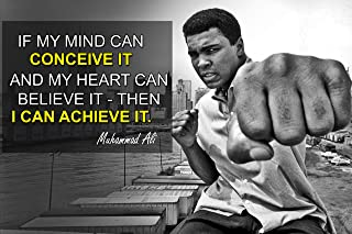 Muhammad Ali Poster Quote Boxing Black History Month Posters Sports Quotes Decorations Growth Mindset Décor Learning Classroom Teachers Decoration Educational Teaching Supplies Black Wall Art P045