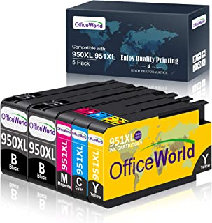 OfficeWorld Compatible Ink Cartridge Replacement for HP 950 951 950XL 951XL Works with Officejet Pro 8600 8610 8620 8630 8...