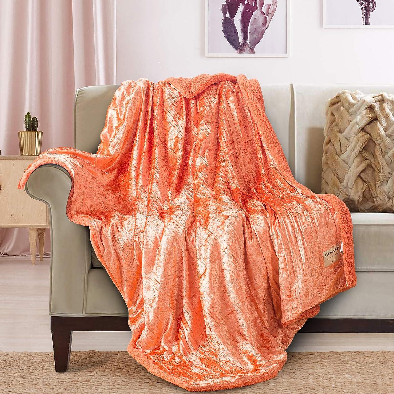 GONAAP Fleece Topics Ranking TOP9 on TV Sherpa Throw Glitter Blanket Sof Lightweight