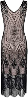 High end 1920s Flapper Dress Great Gatsby Party Evening Sequins Fringed Dresses Gown,