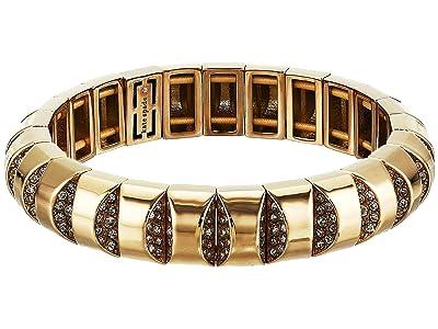 Kate Spade New York Sliced Scallops Pave Stretch Bracelet (Clear/Gold) Bracelet