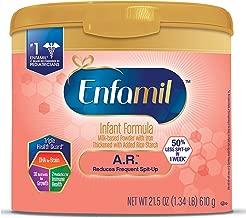 Enfamil A.R. Spit Up Baby Formula Gentle Milk Powder, 21.5 ounce - Omega 3 DHA, Probiotics, Immune & Brain Support