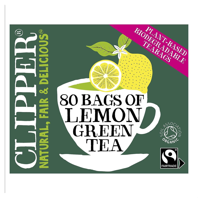 Portland Mall Clipper OFFicial mail order Green Tea Lemon 80 Bags - Organic