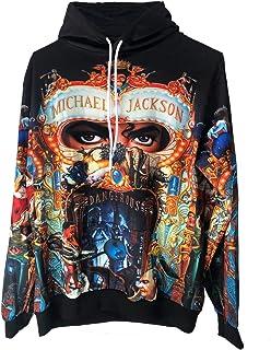 official photos d21ee e118f Michael Jackson Dangereux Hoodies Impression 3D Sweat Tops Punk Hip Pop  Casual Sweat-Shirt