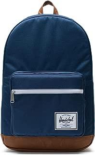 Herschel Pop Quiz, Navy/Tan Synthetic Leather Backpack