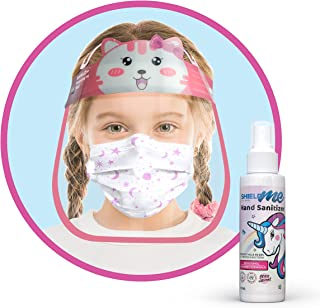 School Protection Package [Face Shield + Face Mask + 100ML Natural Hands & Surfaces Sanitizer]- SHIELDme (Pink (Girls))