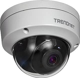 TRENDnet Indoor/Outdoor 4 Megapixel HD PoE IR Dome Style Day/Night Network Camera, Digital WDR, 2688 x 1520p, IK10 Vandal Proof, IP66 Rated Housing, 100ft. Night Vision, ONVIF, IPv6, TV-IP315PI