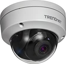 TRENDnet Indoor/Outdoor 4 Megapixel HD PoE IR Dome Style Day/Night Network Camera, Digital WDR, 2688 x 1520p, IK10 Vandal Proof, IP66 Rated Housing, 100ft. Night Vision, ONVIF, IPv6, TV-IP315PI