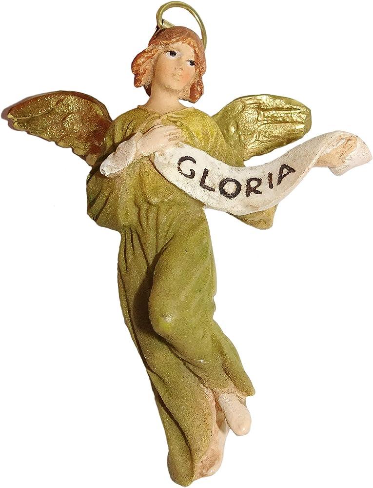 Ferrari & arrighetti statuina presepe: angelo gloria 12 cm 2412NA14