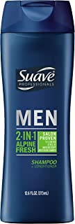Suave Men 2 in 1 Shampoo and Conditioner, Alpine Fresh, 12.6 oz