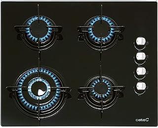 comprar comparacion CATA CIB 6031 BK Integrado Encimera de gas Negro - Placa (Integrado, Encimera de gas, Vidrio, Negro, Esmaltado, 1000 W)