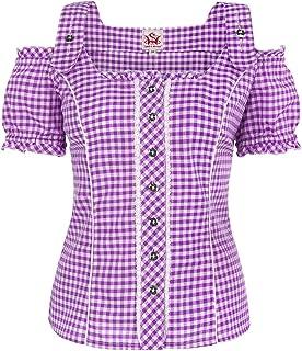Michaelax-Fashion-Trade Spieth & Wensky - Damen Trachten Bluse kariert, Pilla 009567-0115