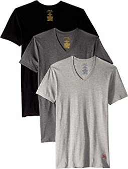 Classic Fit w/ Wicking 3-Pack V-Necks