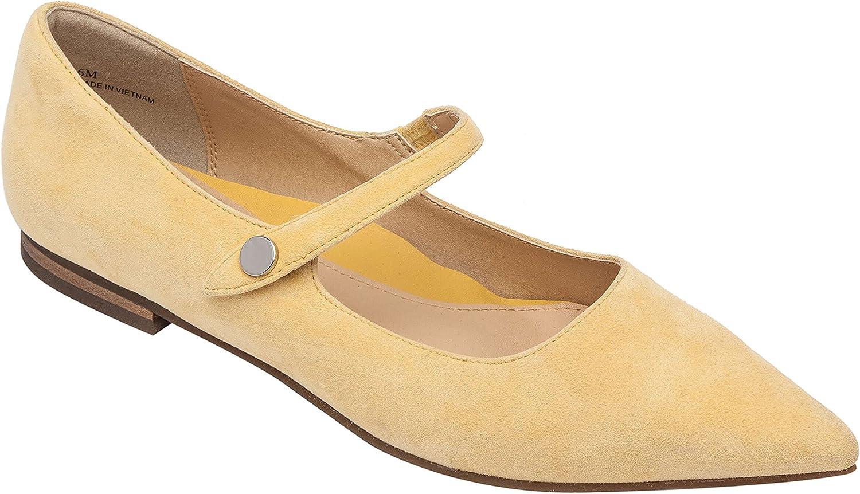 LUCIPointy Toe mocka mocka mocka Mary Jane Ballet Flat Comfortable Insole Padted Arch Support (ny Fall)  Beställ nu