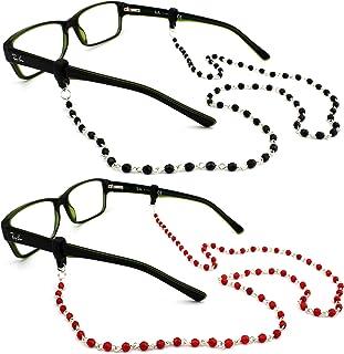 Peeper Keepers Czech Beads & Chains, Eyeglass Retainer, w/Cloth & Screwdriver