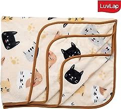 Luvlap Newborn Baby Soft Swaddling Blanket, Beige Cat (80cm x 100cm)