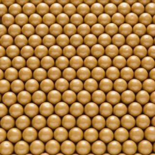 Shimmer Gold 1/2 Inch Gumballs - Tutti Frutti Flavored - Includes