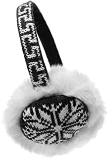 Winter Wonderland Snowflake//Reindeer Knit Faux Fur Ear Warmers
