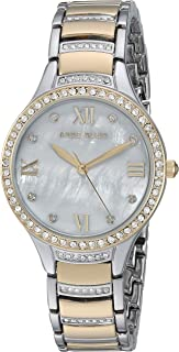 Women's AK/3385MPTT Swarovski Crystal Accented Two-Tone Bracelet Watch