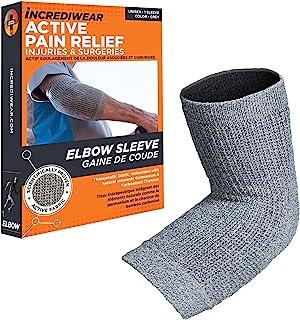 INCREDIWEAR Incredibrace Compression Shin And Elbow Sleeve Brace, Small/Medium, Grey