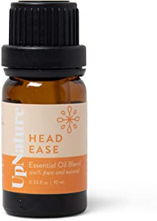 Head Ease Headache Essential Oil Blend - 100% Pure And Potent Essential Oil For Headaches - Stress Relief Essential Oil - Lavender, Rosemary & Peppermint Oil Blend - For Aromatherapy & Topical Use