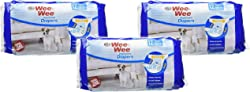 Four Paws (3 Pack) Wee-Wee Products Disposable Dog Diapers Small
