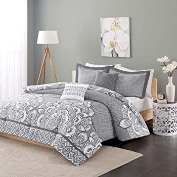 Madison Park Serendipity Cotton Percale Comforter Set Coral Twin//Twin XL MP10-3535