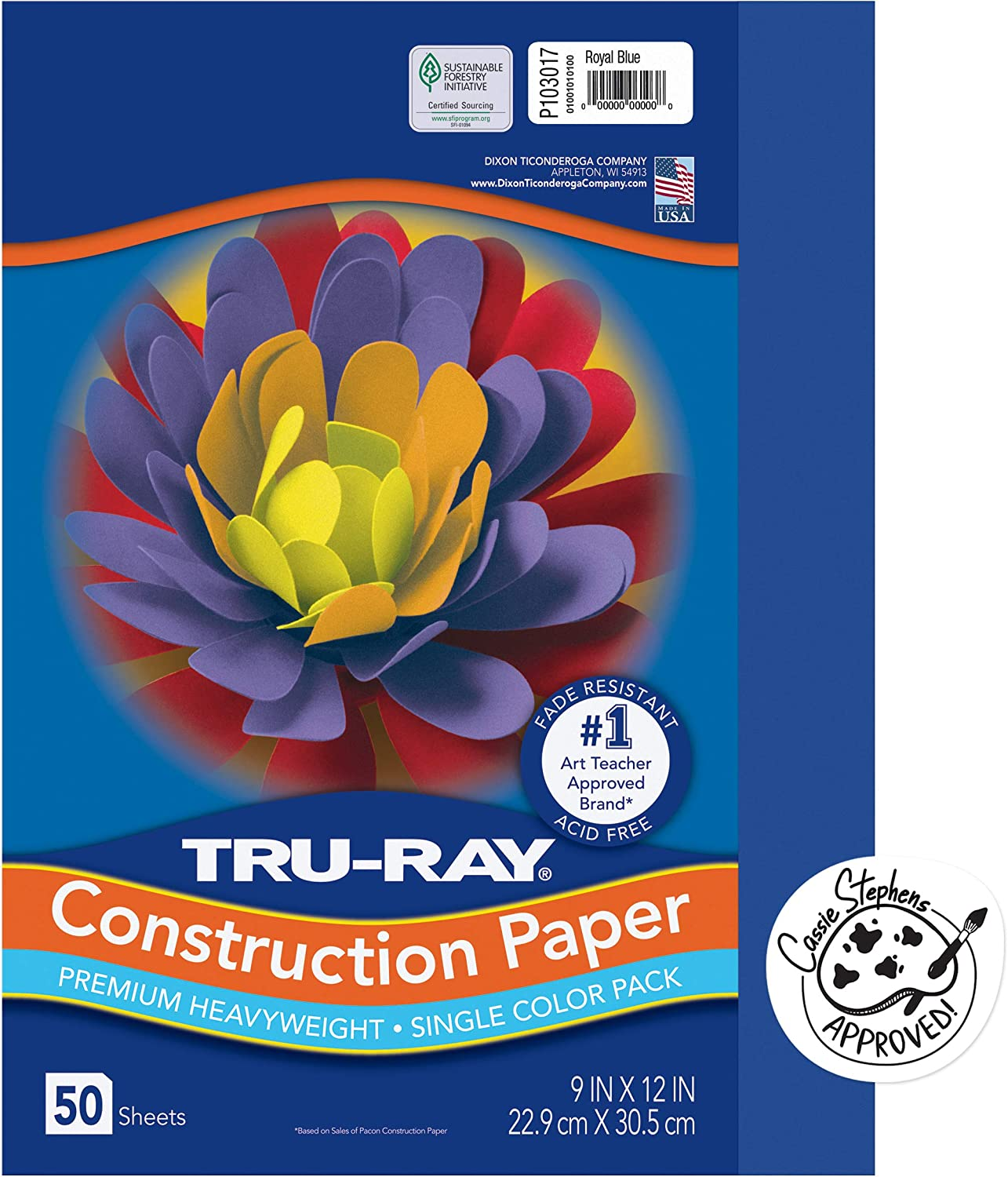 Tru-Ray Heavyweight Construction National uniform Cheap mail order sales free shipping Paper Royal Blue 12