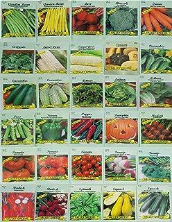 30 بسته غلات Deluxe Greene گل های گیاهی باغ گیاه غیر GMO (تضمین شده 30 گونه مختلف به عنوان لیست)