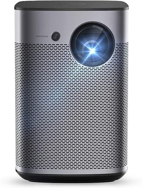 Proiettore portatile intelligente af 800 ansi lumen android tv 9.0 google assistant 3d - halo led 1080p WK03A