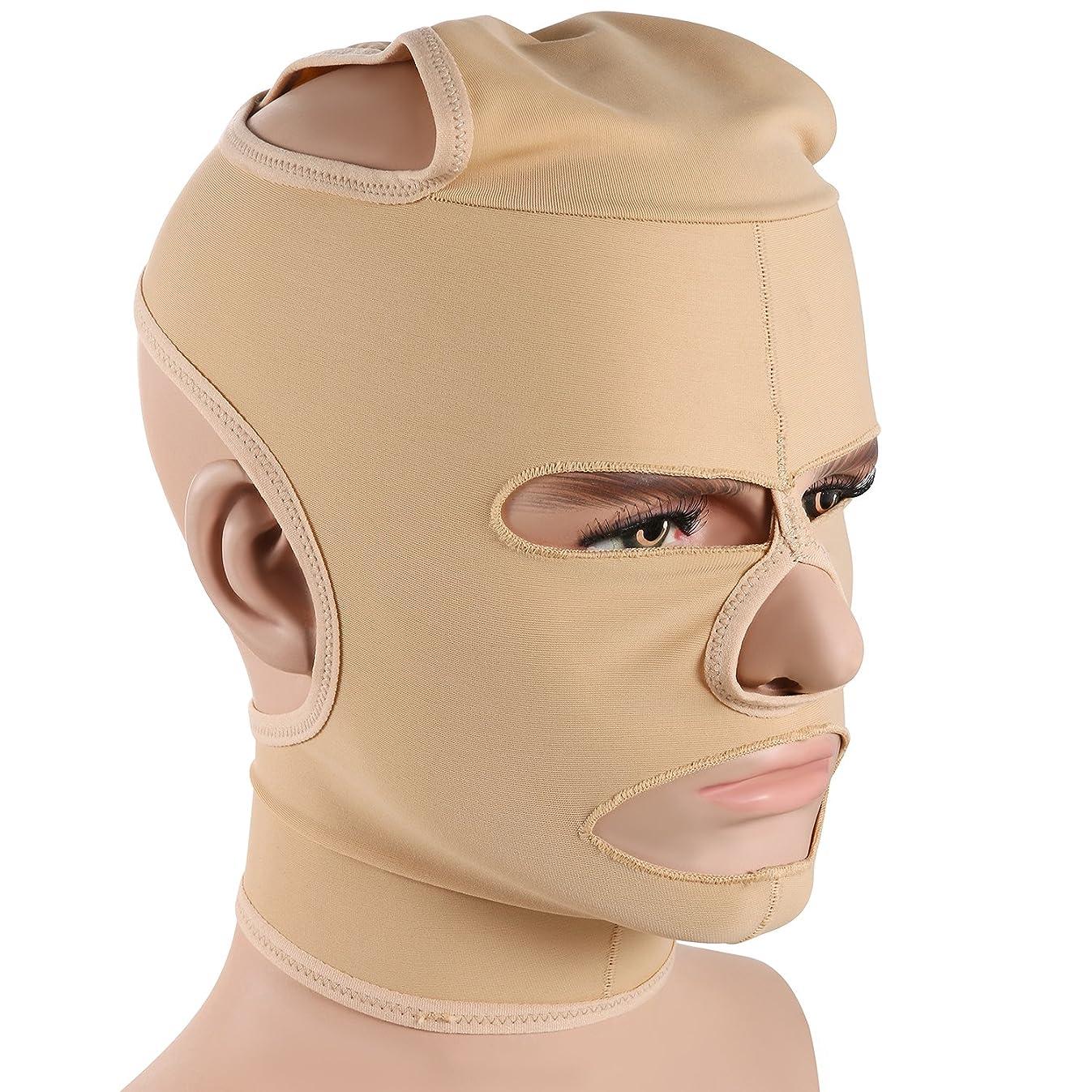 一晩面六JewelryWe 小顔補正マスク 小顔ベルト 法令線予防 シワ防止 美顔 額、顎下、頬リフトアップ 男女兼用 Mサイズ