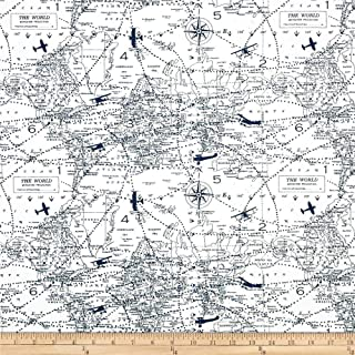 Best vintage airplane print fabric Reviews