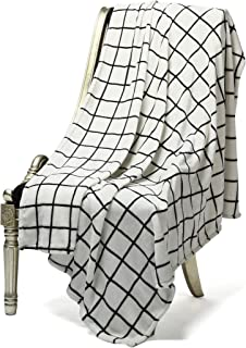 Bertte Microfiber Throw Flannel Fall utra-Cozy Warm Lightweight FleeceThrow for Couch Decorative Plaid Pattern Blanket, 50