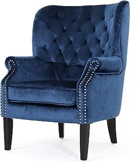 Christopher Knight Home Tommen Tufted Back New Velvet Club Chair (Cobalt)