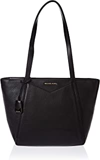 MICHAEL KORS Womens Whitney Pebbled Leather Tote Bag, Small, Black -30S8GN1T1L