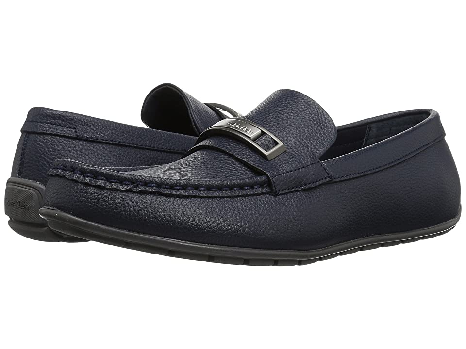 Calvin Klein Irving (Dark Navy Tumbled Leather) Men
