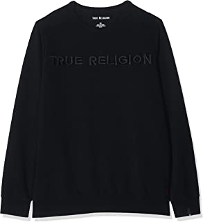 True Religion Men's Crew Sweat Tr Black Sweatshirt