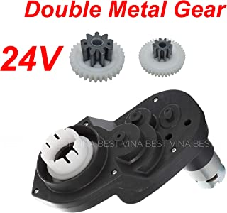 24V 18000RPM Gearbox for Power Wheels Small Axle Hole, RS550 24 Volt Electric Motor for Children Ride On Car Replacement Parts