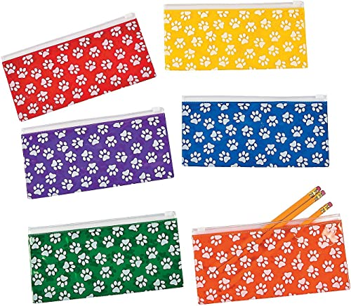 Tu satisfacción es nuestro objetivo Paw Print Pencil Cases - - - 12 ct by Party Supplies  barato y de alta calidad