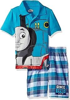 Thomas & Friends Toddler Boys' 2 Piece Thomas Polo and Plaid Short Set