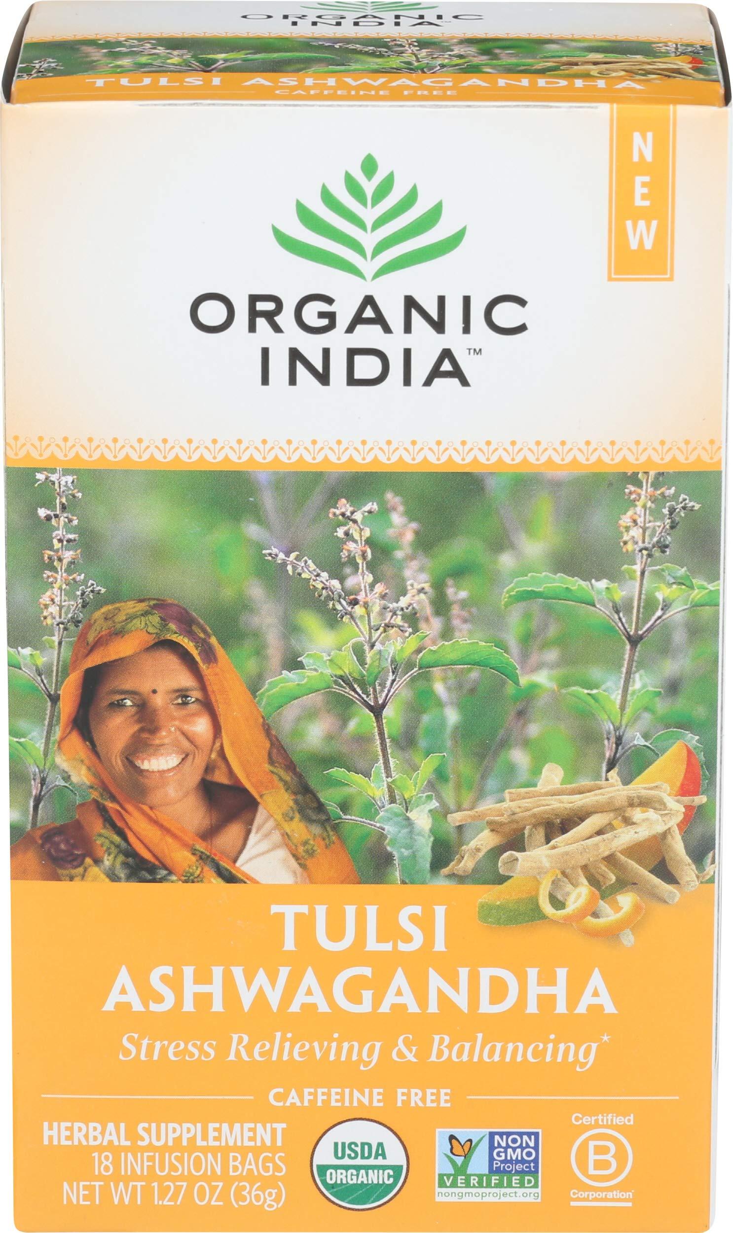 Organic India Tulsi Infusion Ashwaganda