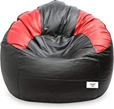 VSK Bean Bag XXXL Sofa Mudda Cover Black & Red Multi Color (Without Beans)