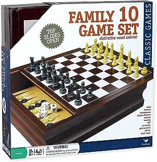 Best 10 game set distinctive wood cabinet Reviews
