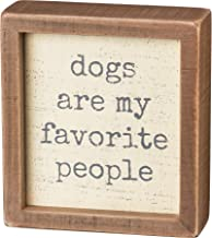 Primitives by Kathy Inset Wood Box Sign, 5 x 5.5-Inches, Favorite People