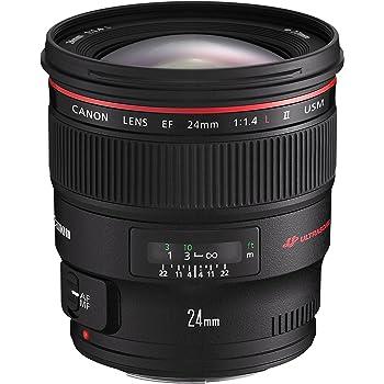 Canon Weitwinkelobjektiv EF 24mm F1.4L II USM für EOS (Festbrennweite, 77mm Filtergewinde, Autofokus) schwarz