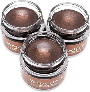 【お得な3個セット】EMAJINY Chocolate Brown C27 エマジニー チョコレートブラウンカラーワックス 濃茶 36g 【日本製】【無香料】【シャンプーでサッと洗い流せる1日茶髪】