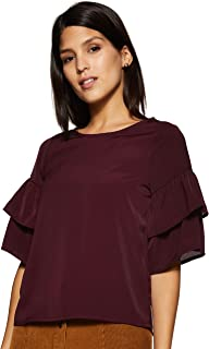 ABOF Women's Plain Regular fit Top